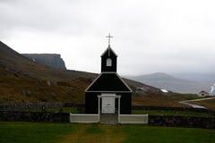 Saurbaer een raudasandi, één van de vele Ijslandse kerken Royalty-vrije Stock Foto