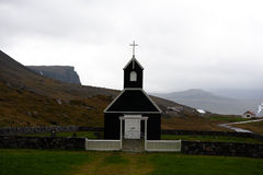 Saurbaer en raudasandi, en av de många isländskakyrkorna Royaltyfri Foto
