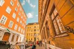 Saure Farben in den Altbauten von Europa - Budapest lizenzfreies stockfoto