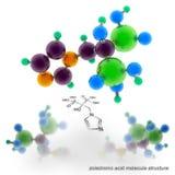 Saure Molekülstruktur Zoledronic vektor abbildung