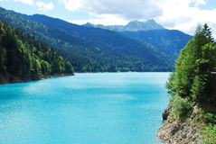 Sauris Lake Royalty Free Stock Photo