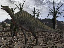 saurolophus динозавра angustirostris 3d Стоковые Изображения RF