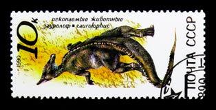 Saurolophus förhistorisk djurserie, circa 1990 Fotografering för Bildbyråer