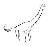 Sauroposeidon恐龙 免版税库存照片