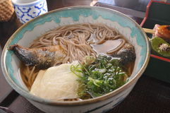 Saury Noodle Stock Photo