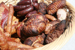 Sausage. Natural meats - organic meats from the Polish Royalty Free Stock Photography