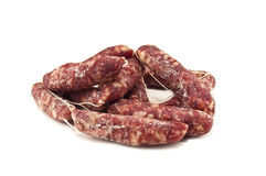 Sausage. Italian sausage isolated on white Stock Photography