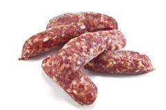 Sausage. Delicious italian sausage on white Stock Image