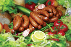 Sausage. Photo of the polish sausage Stock Photo