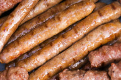 Sausage. Photo of grilled sausage. Barbeque stock photo