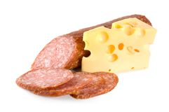 Sausage And Cheese Stock Image