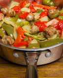Sausage And Peppers Stock Photography
