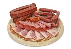 Sausage assortment Royalty Free Stock Photo