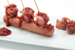 Sausage and bacon Royalty Free Stock Photos