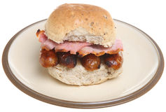 Sausage and Bacon Roll Royalty Free Stock Photography