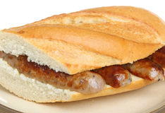 Sausage Baguette Sandwich Royalty Free Stock Image