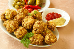Sausage balls Royalty Free Stock Photos
