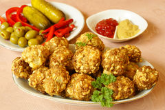 Sausage balls Royalty Free Stock Images