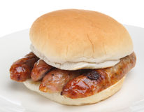 Sausage Bap Royalty Free Stock Photos