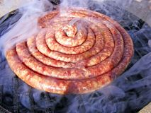 Sausage and barbecue Royalty Free Stock Images