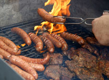 Sausage barbecue Stock Photos
