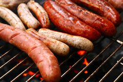 Sausage barbecue Royalty Free Stock Images