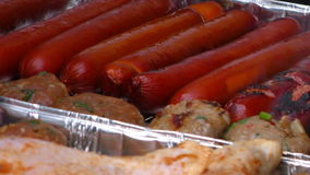 Sausage Barbecue stock footage