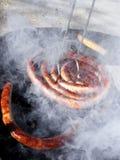 Sausage and bbq stock photo
