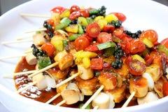 Sausage bbq sauce Stock Image