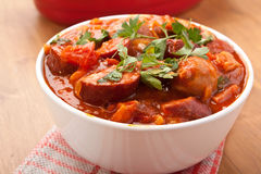 Sausage and Bean Stew Royalty Free Stock Images