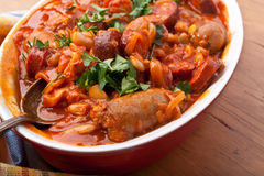 Sausage and Bean Stew Royalty Free Stock Photo
