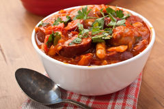 Sausage and Bean Stew Royalty Free Stock Photos