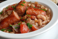 Sausage with beans Royalty Free Stock Photo