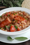 Sausage with beans Royalty Free Stock Photography