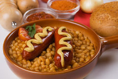 Sausage and beans Stock Photography