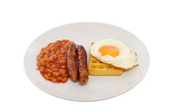 Sausage beans and egg Royalty Free Stock Photography