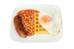 Sausage beans and egg Royalty Free Stock Photos