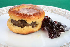 Sausage Biscuit and Jelly Stock Image