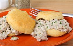Sausage Biscuits Stock Photography