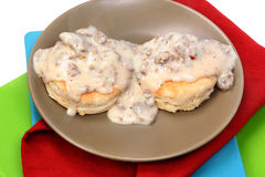 Sausage Biscuits and Gravy Stock Photos