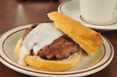 Sausage and biscuits with gravy Stock Images