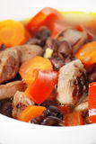 Sausage and black bean soup Stock Photography