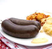 Sausage of blood Stock Photography