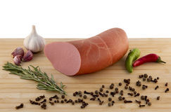 Sausage on the board Royalty Free Stock Photography