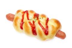 Sausage bread Stock Photos