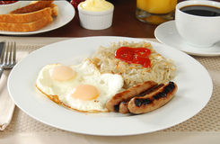 Sausage breakfast Stock Photography