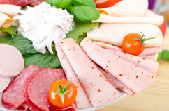 Sausage buffet Royalty Free Stock Photos