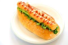 Sausage Burger Royalty Free Stock Photos