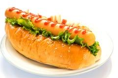 Sausage Burger (hotdog ham) Stock Images