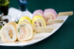 Sausage canape Royalty Free Stock Photos